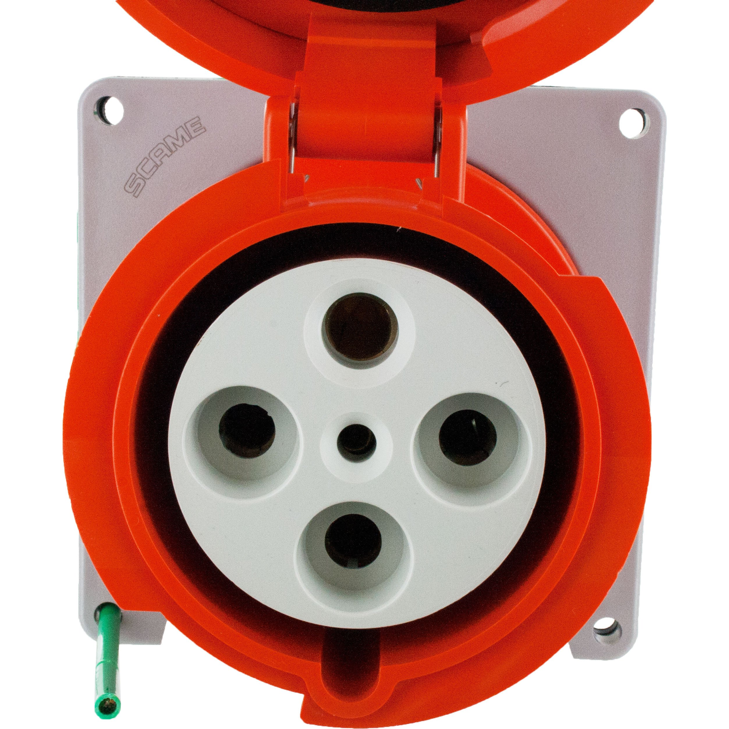 4100r12w Pin And Sleeve Receptacle 100 Amp 3 Pole 4 Wire Elecdirect Wiring Receptacles