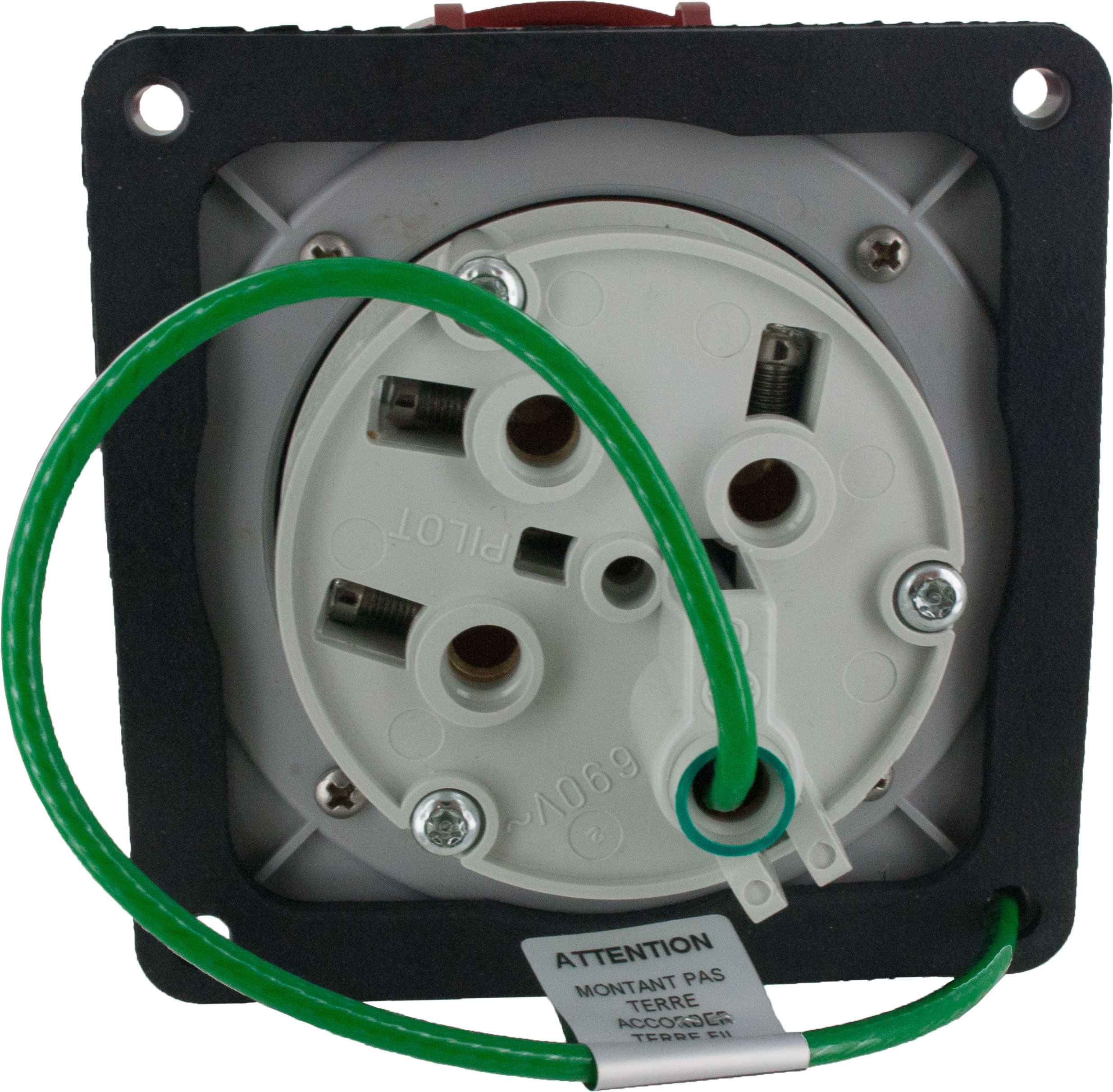 460R7W Pin And Sleeve Receptacle 60 Amp 3 Pole 4 Wire   ElecDirect