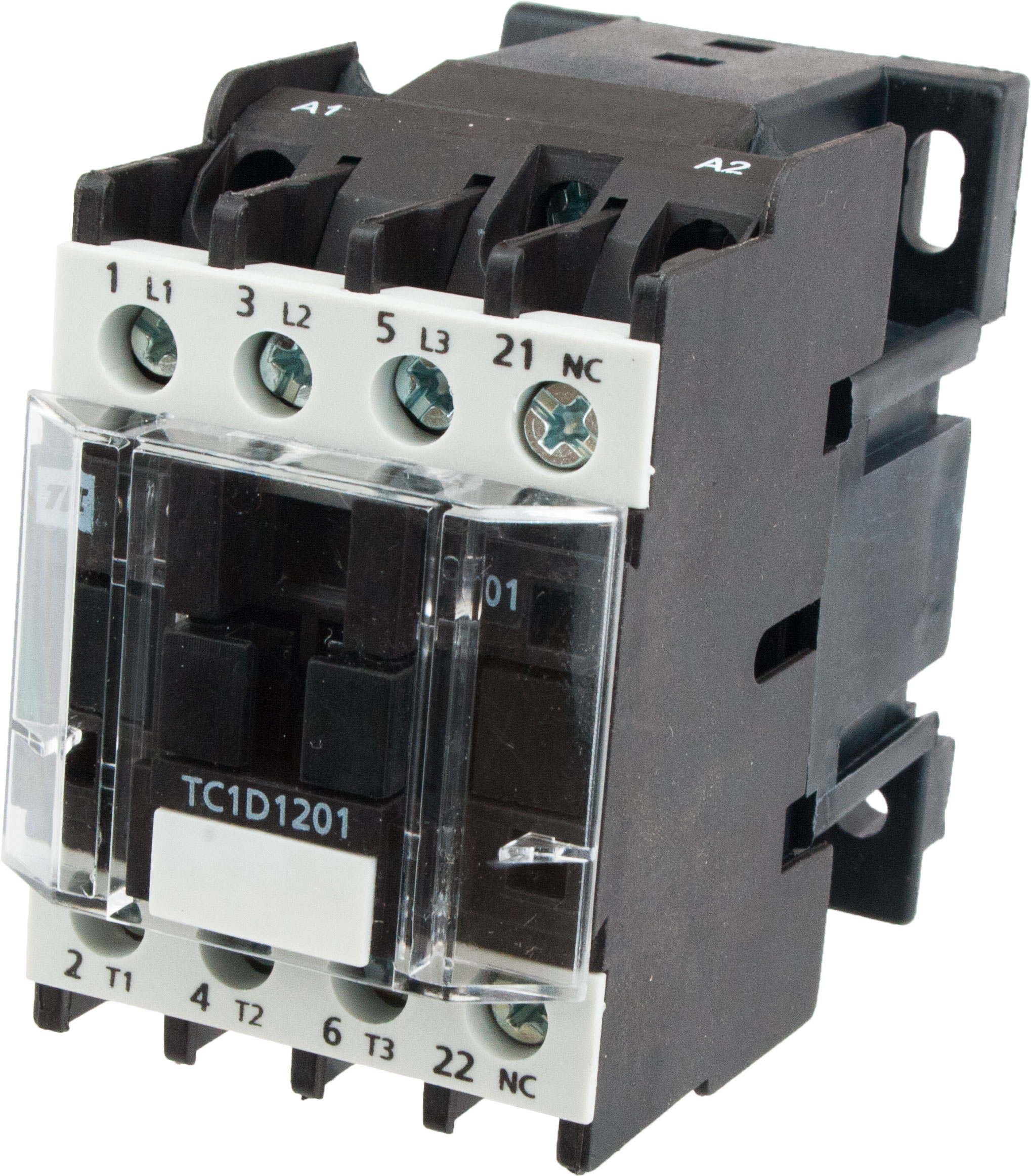 3 Pole Contactor 12 Amp 220 Vac Coil Tc1d1201m7 Elecdirect 230v Phase Wiring
