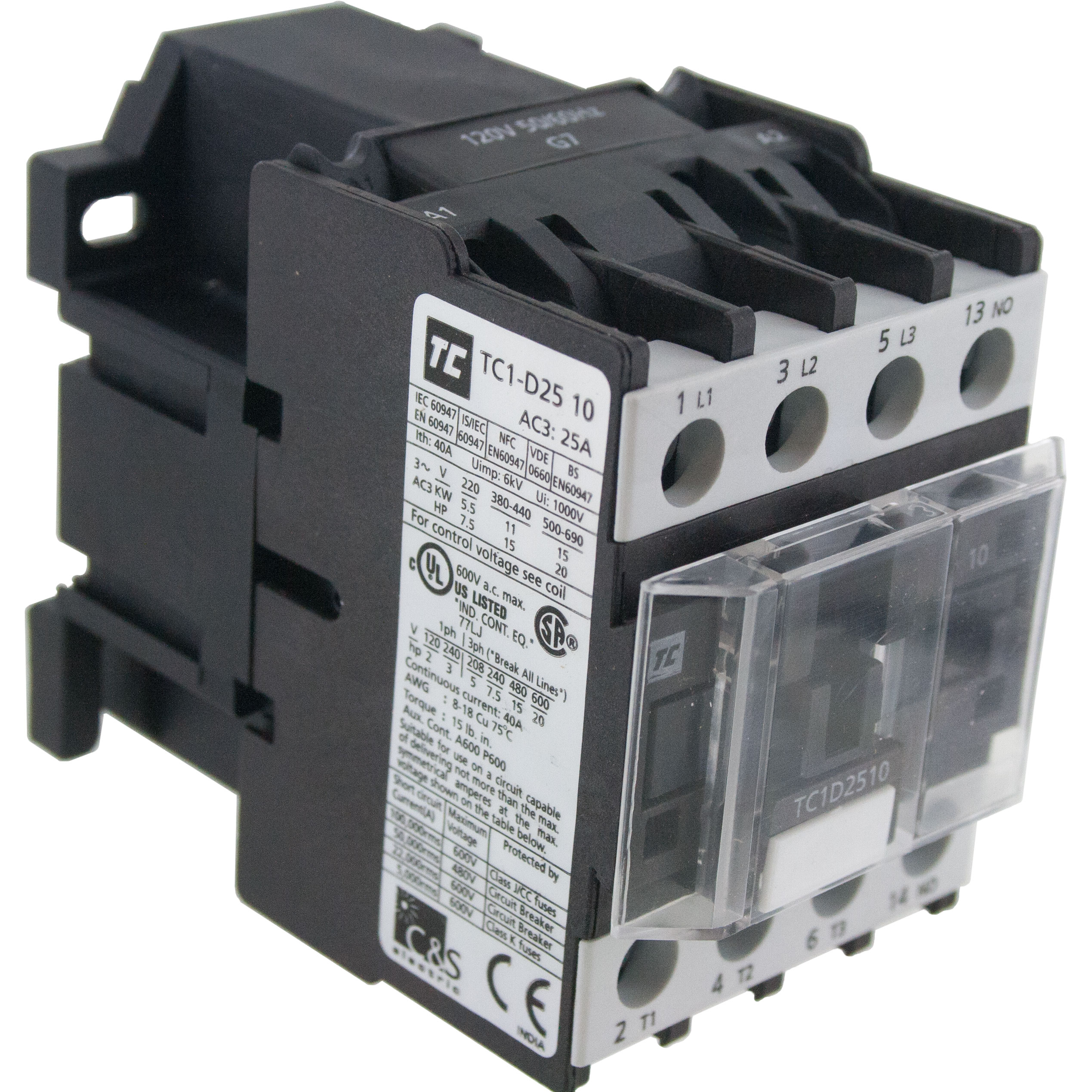 3 Pole Contactor 25 Amp 1 N O 24 Volt Ac Coil Tc1d2510b7 Elecdirect Details About Push Button 5 Circuit Breaker For 12 50 Volts Dc