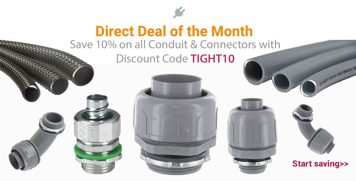 Liquid Tight Conduit and Connectors on Sale