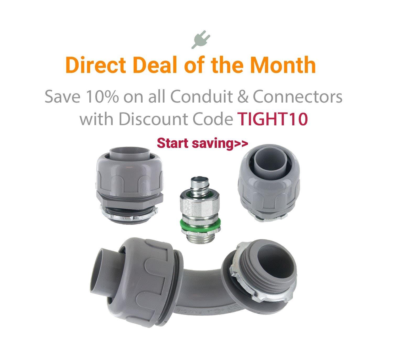 Save on Liquid Tight Conduit Connectors