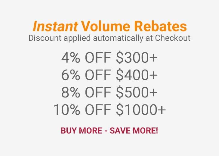 Instant Volume Rebates