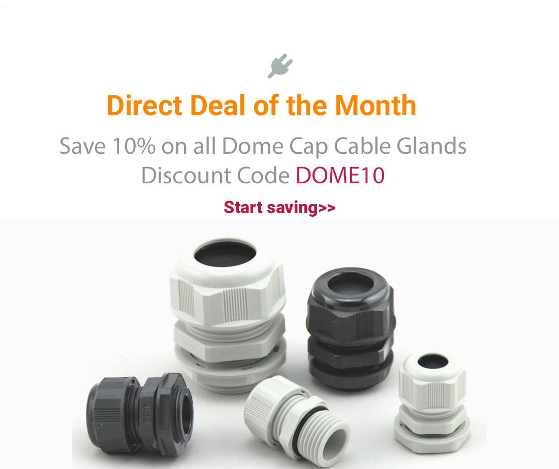 Save 10% on Cable Glands
